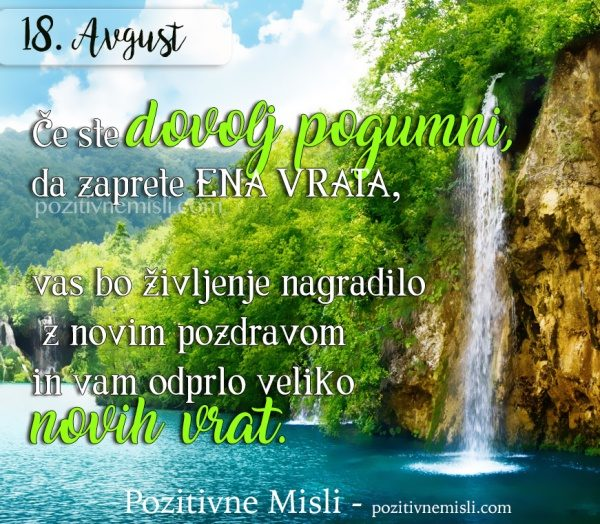 18. avgust - 365 modrih misli