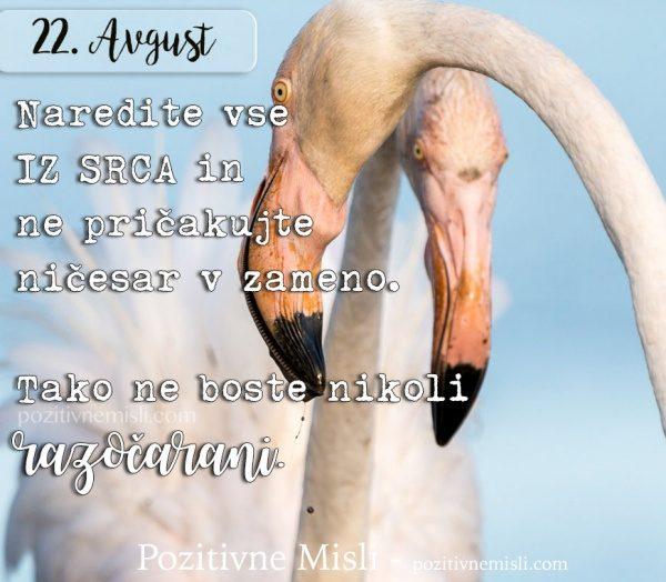 22. avgust - 365 misli -  Naredite vse iz srca