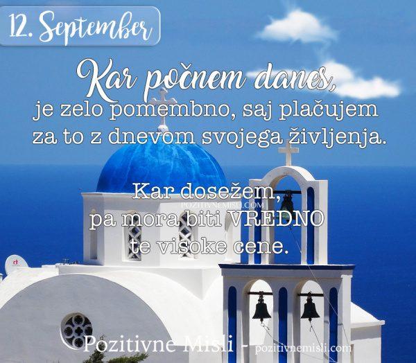 12. september - 365 misli