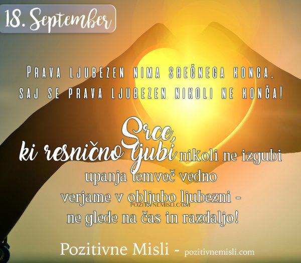 18. september  - 365 misli - Prava ljubezen