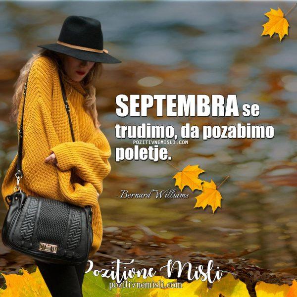 Misel za september - Septembra se trudimo