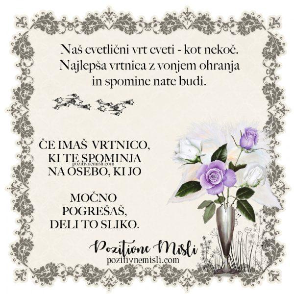 Misli o spominu - Naš cvetlični vrt cveti kot nekoč