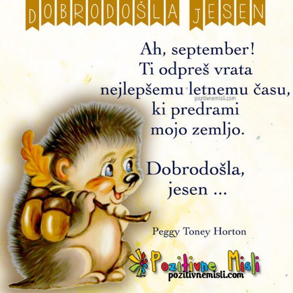Jesen, dobrodošla