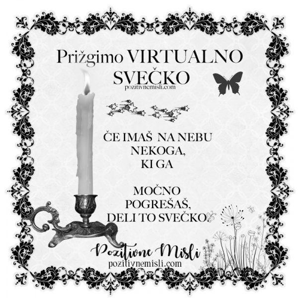 Prižgimo virtualno svečko