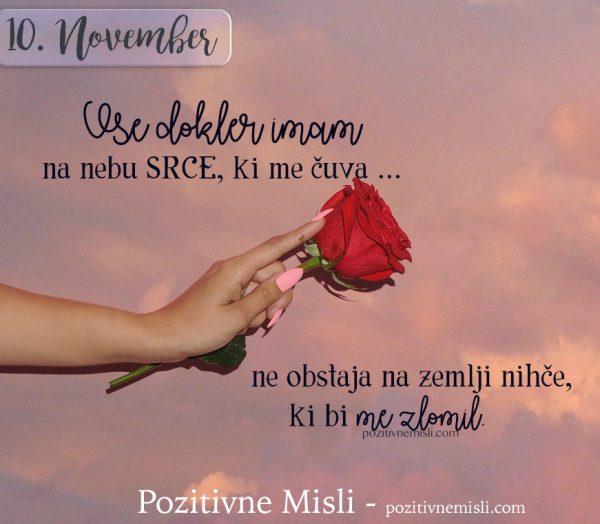 10. NOVEMBER - Vse dokler imam ...
