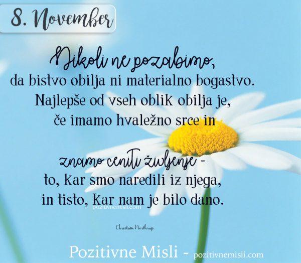 8. NOVEMBER - Nikoli ne pozabimo ...