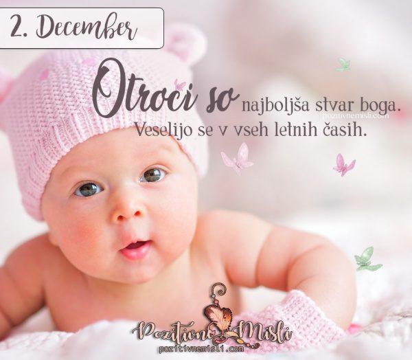 2. december - Otroci so najboljša