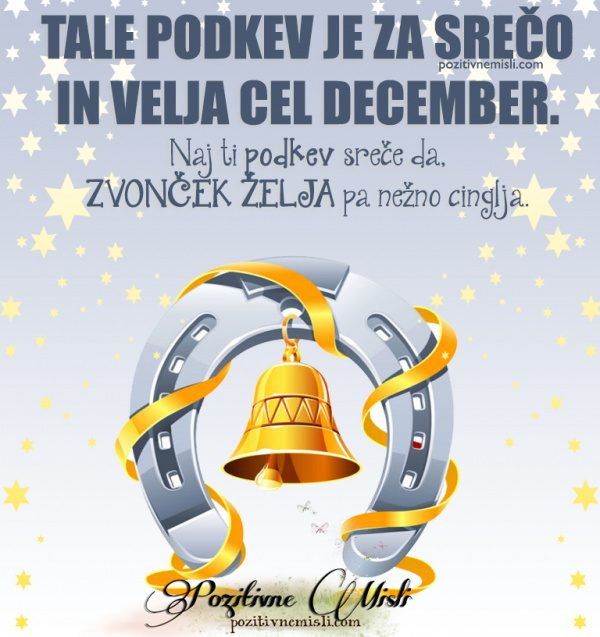 DECEMBER mesec - Podkev za SREČO