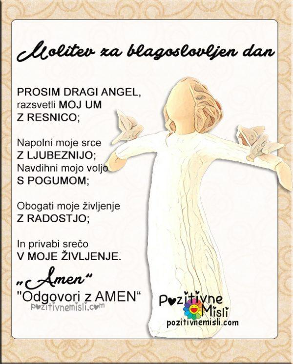 Molitev za blagoslovljen dan