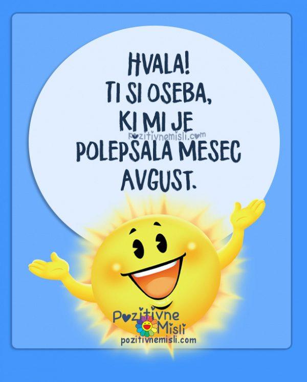 Mesec avgust - označi prijatelja, ki ti je lepšal mesec avgust