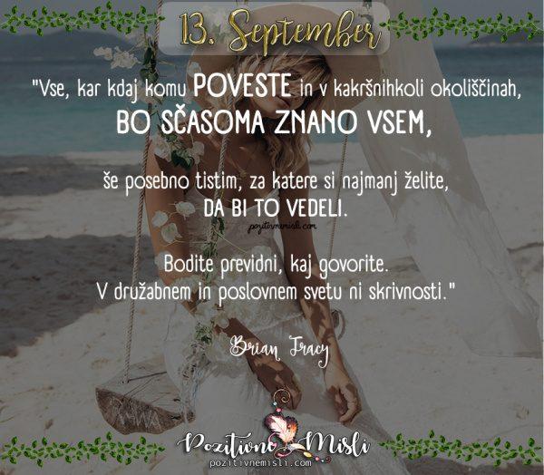 13. september - 365 misli za vsak dan