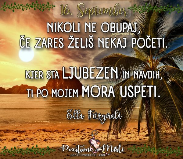 16. september - 365 misli za vsak dan