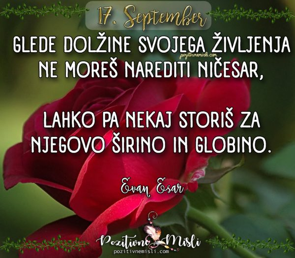 17. september - 365 misli za vsak dan