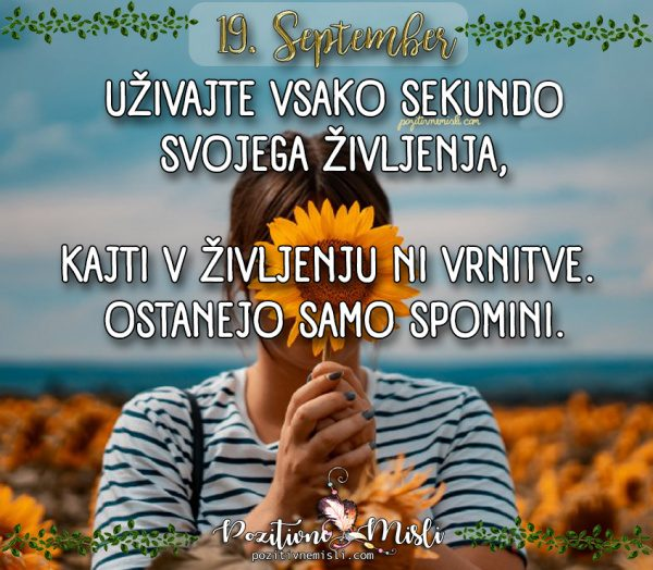 19. september - 365 misli za vsak dan