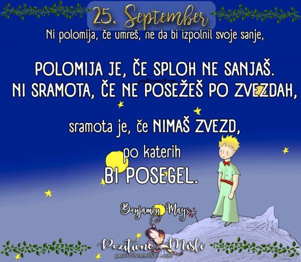 25. september - 365 misli za vsak dan - Življenje