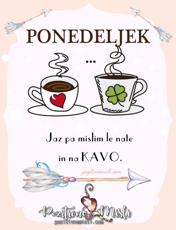 Ponedeljek - dan za kavo s prijateljem