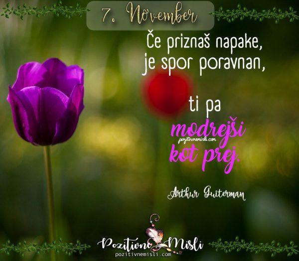 7. november - 365 misli za vsak dan
