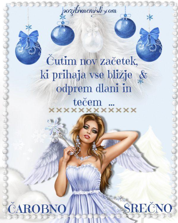 Novo leto - Adventni koledar - Čutim nov začetek,  ki prihaja vse bližje