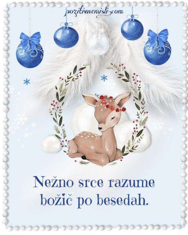 Božič v srcu - Nežno srce razume  božič po besedah