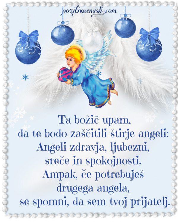 Božič v srcu .... Ta božič upam, da te bodo zaščitili štirje angeli