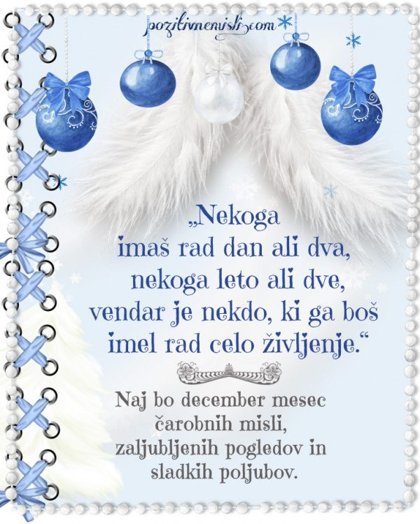 Božič v srcu - adventni koledar - Nekoga  imaš rad dan ali dva