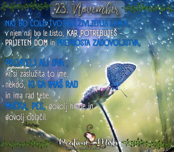 23. november - 365 misli za vsak dan