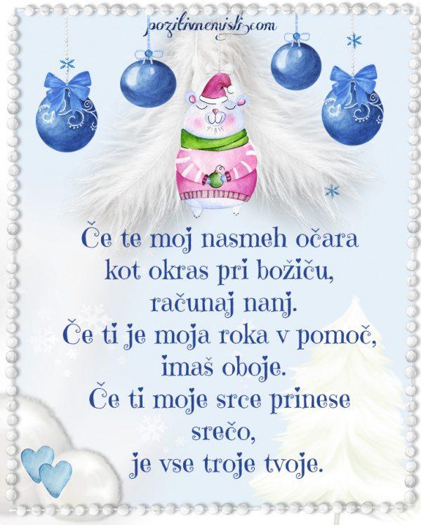 Božič v srcu - Če ti moj nasmeh pomaga kot okras pri božiču