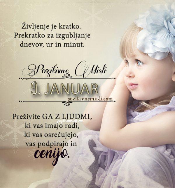 9. januar - 365 misli koledar lepih misli o življenju