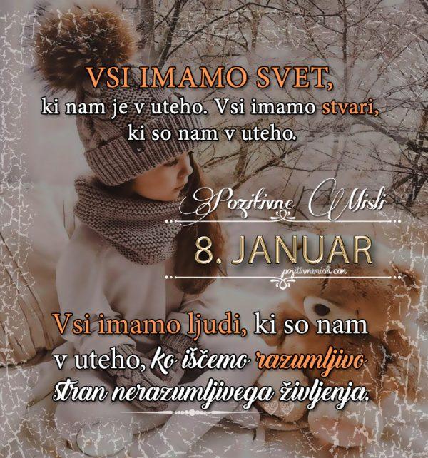 8. januar - 365 misli Koledar lepih misli o življenju