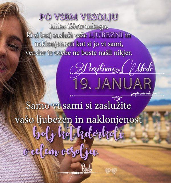 19. januar - 365 misli  koledar lepih misli o življenju