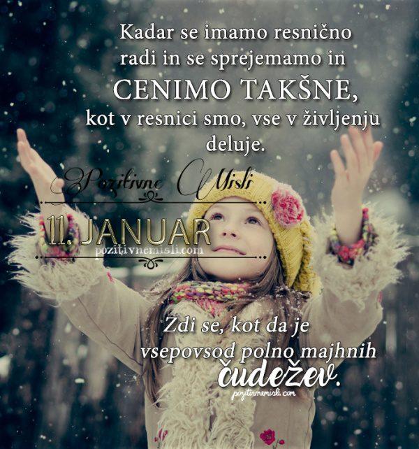 11. januar - 365 misli koledar lepih misli o življenju