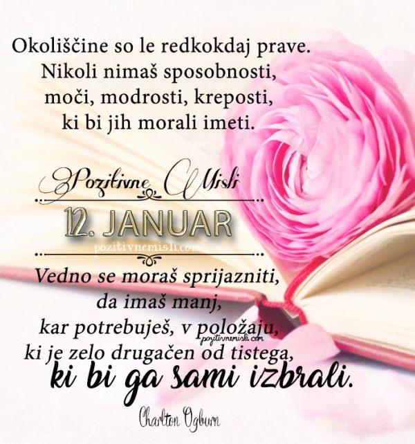 12. januar 365 misli - koledar lepih misli o življenju