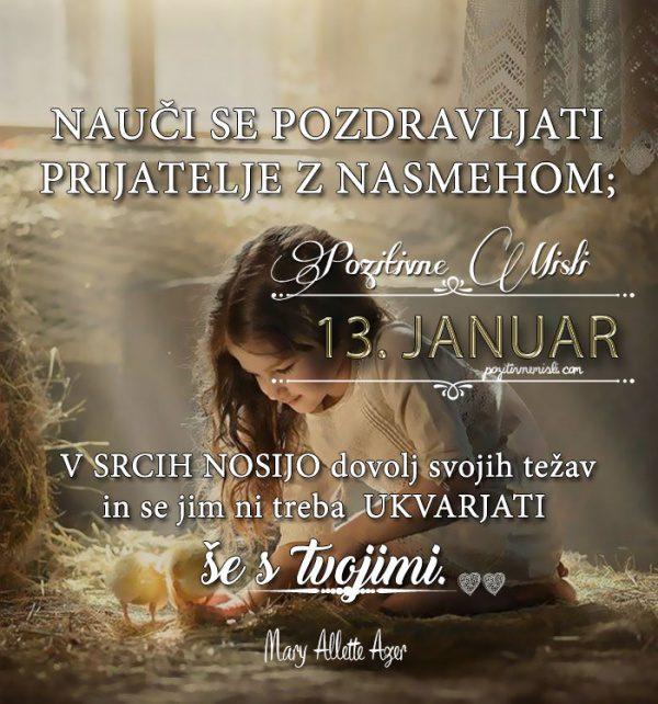 13. januar 365 misli - Koledar lepih misli o življenju