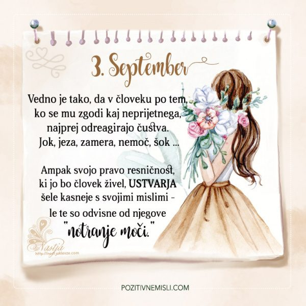 3. September - Pozitivčice - Misel dneva