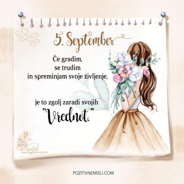 5. September - Pozitivčica - Misel dneva - Nastja