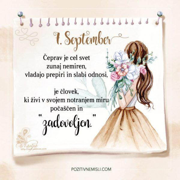 7. September - Pozitivčice - Misel dneva - Nastja Klevže