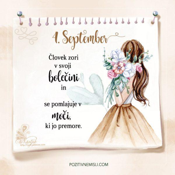 4. September - Pozitivčica - Misel dneva - Nastja Klevže