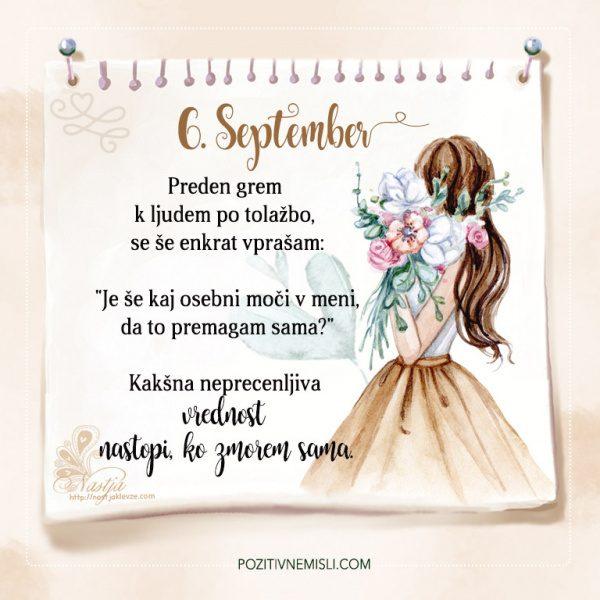 6. September - Pozitivčica - Misel dneva - Nastja
