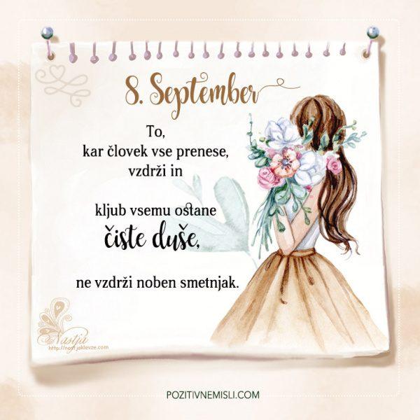 8. September - Pozitivčice - Misel dneva - Nastja Klevže