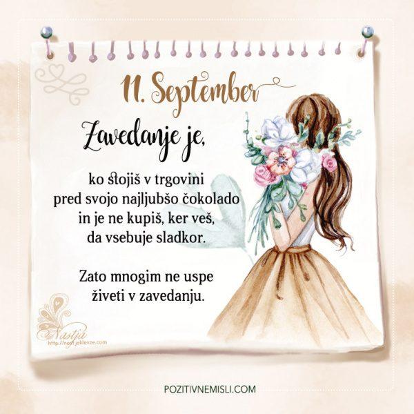 11. September - Pozitivčice - Misel dneva - Nastja Klevže