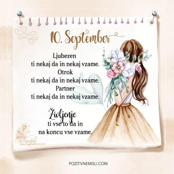 10. September - Pozitivčice - Misel dneva - Nastja Klevže