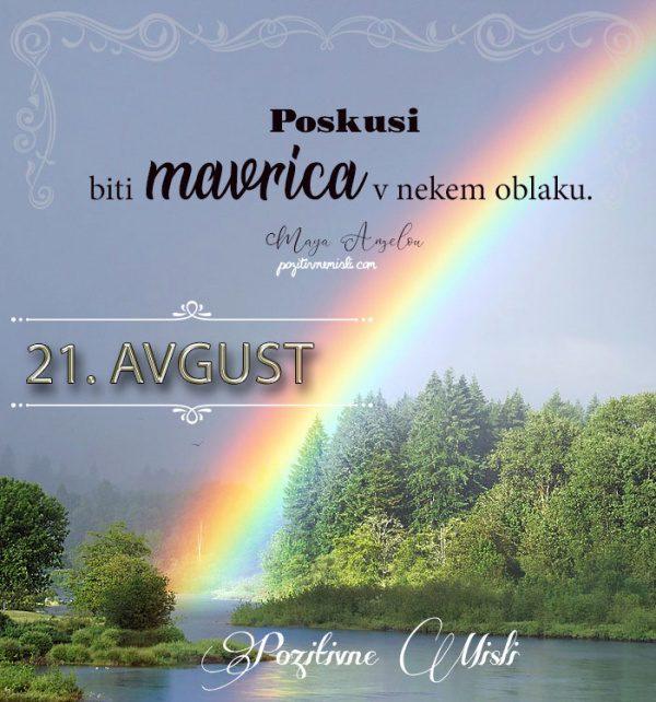 21. avgust - 365 misli koledar lepih misli o življenju