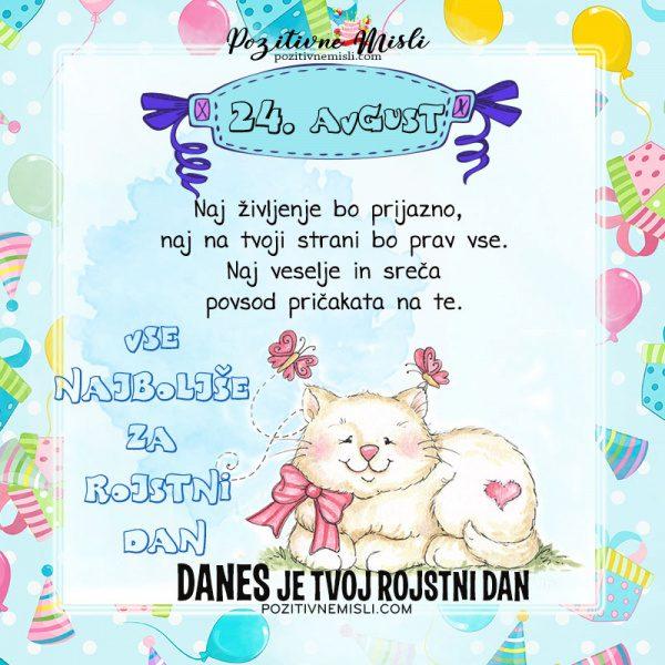 24. avgust - voščilo za rojstni dan - Pozitivčice