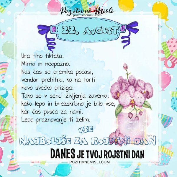 22. avgust - voščilo za rojstni dan - Pozitivčice