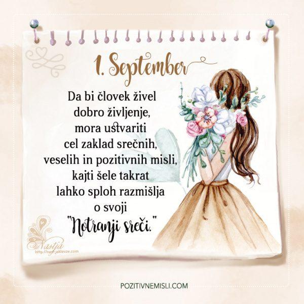 1. September - Pozitivčica - Misel dneva - Nastja