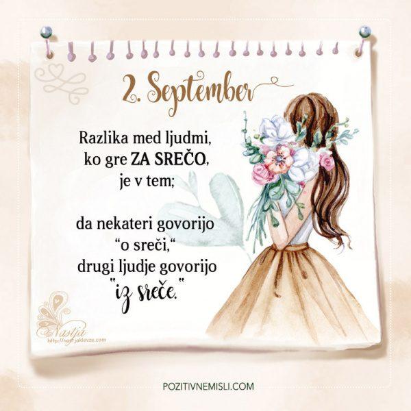 2. September - Pozitivčice - Misel dneva - Nastja Klevže