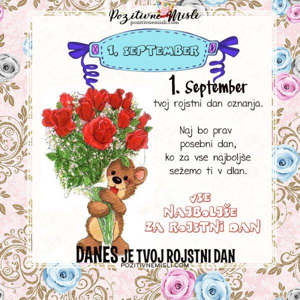 1. september - voščilo za rojstni dan - Pozitivčice