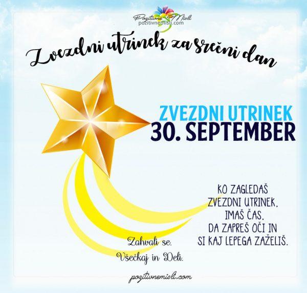 30. september - 365 srečnih dni - zvezdni utrinek za srečo