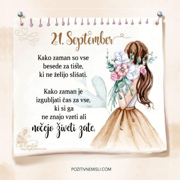 21. September - Pozitivčice - Misel dneva - Nastja Klevže