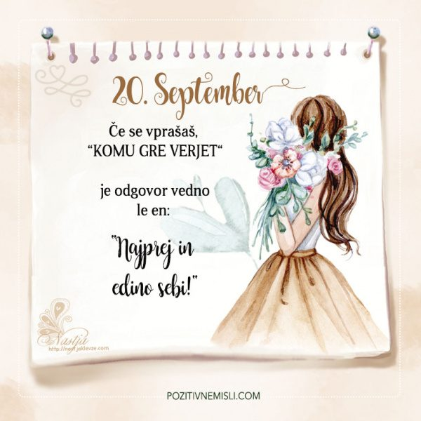 20. September - Pozitivčica za današnji dan